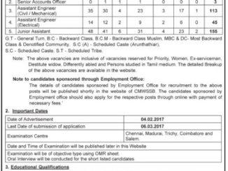 322 AE Junior Assistant Jobs 2017 at www chennaimetrowater